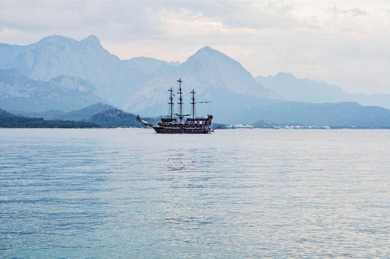 Passenger ship on cruise