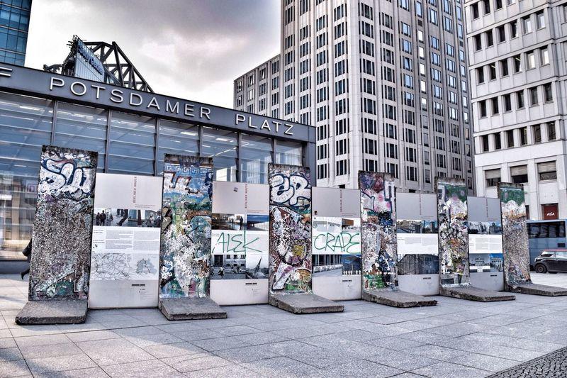 Berlin wall at postdamer platz