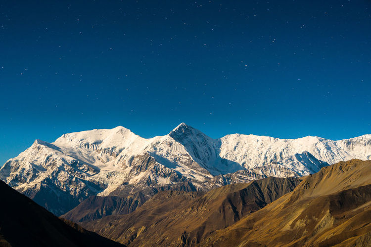 Annapurna High Resolution Himalayas Nature Nepal Travel Trekking Annapurnacircuit Landscape Long Exposure Moonlight Mountain Night No People Outdoors Snowcapped Mountain Stars Supermoon Valley