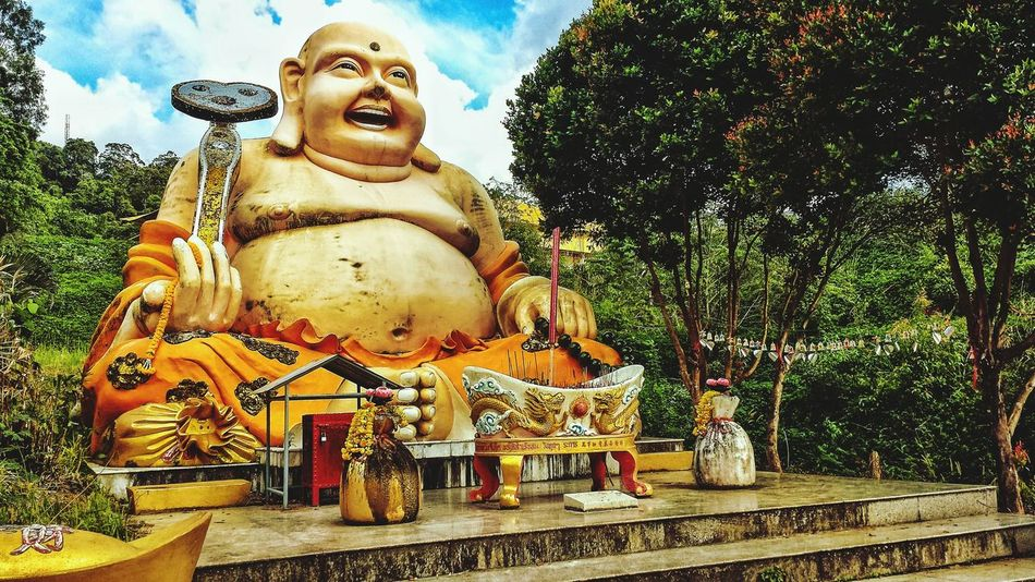 Showcase: January Laughing Buddha Hat Yai Municipal Park Buddhist Buddhism Statue Clouds Southern Thailand Outdoors Southeast Asia ASIA Low Angle Afternoon Songkhla Hat Yai Songkhla Province Spotted In Thailand
