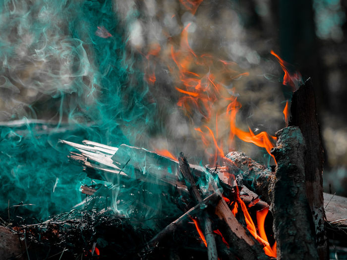 Burning Smoke - Physical Structure Fire Fire - Natural Phenomenon Heat - Temperature Flame Motion Nature No People Day Environment Wood - Material Orange Color Outdoors Land Blurred Motion Glowing Tree Firewood Bonfire Air Pollution My Best Photo