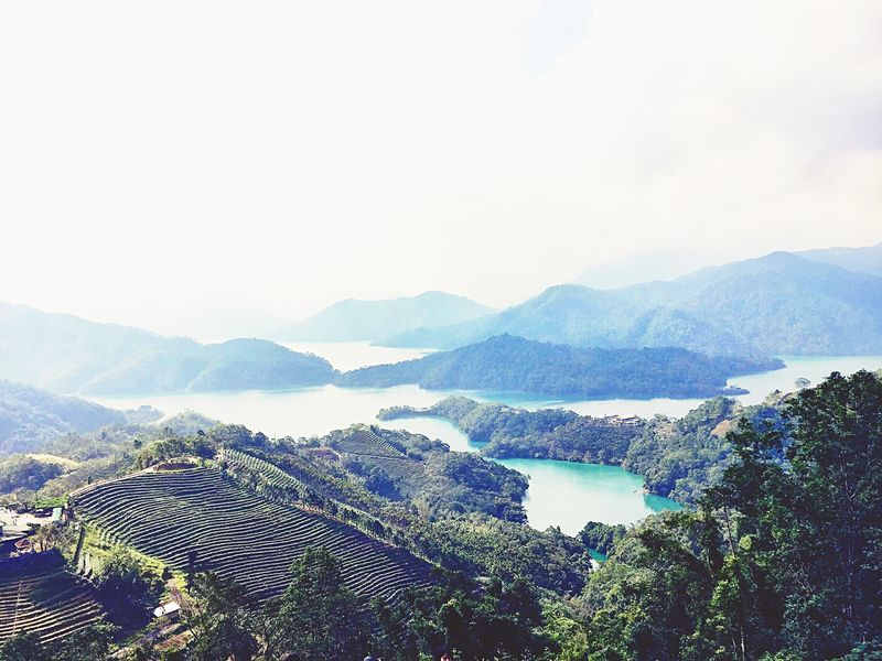 Thousand island lake in Shi Ding , Taiwan. Mountain Scenics Nature Taiwan Shi Ding Thousand Island Lake Beauty In Nature Beauty In Nature Lake