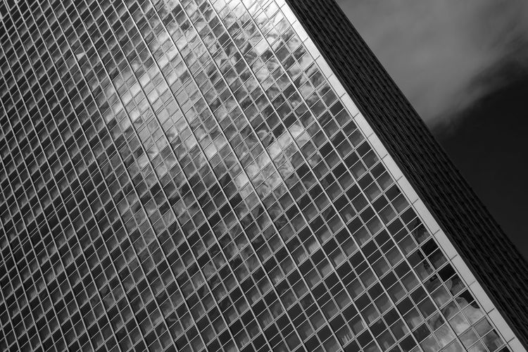 Abstract Architecture Blackandwhite Building Exterior Geometry Glass - Material Modern Skyscraper Pattern Pieces