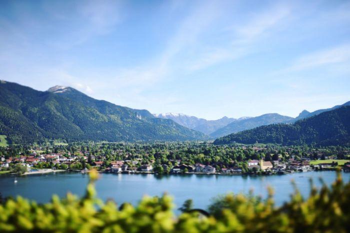 Tegernsee Bayern Deutschland Germany Bavaria Alps Oberbayern Upper Bavaria Summer