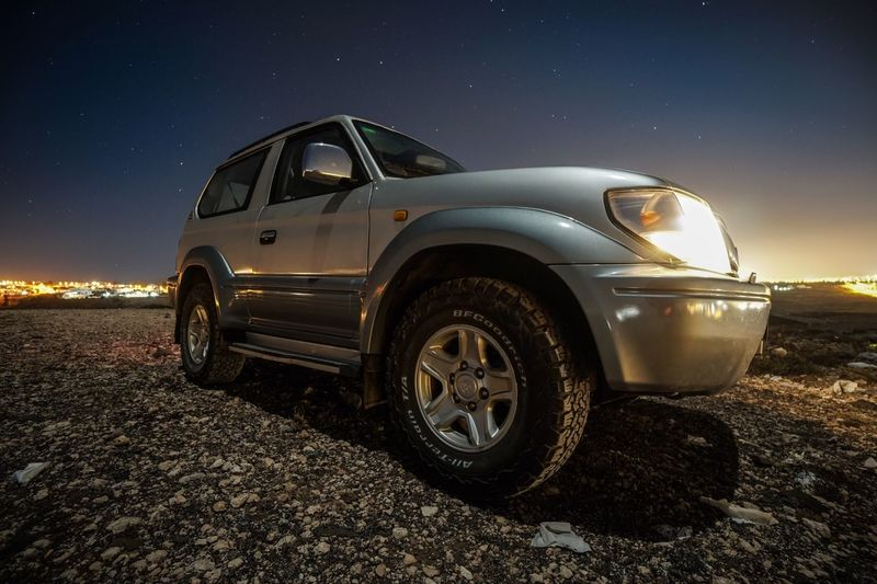 Toyota nights. Car Night Transportation Land Vehicle Star - Space Sky No People Outdoors Tire
