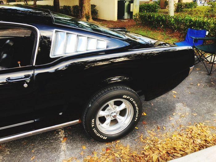 Classic Muscle Muscle Car Vintage Black Chrome Quarter Panel Transportation Land Vehicle Car Mode Of Transport Tire Stationary Day Outdoors No People Wheel