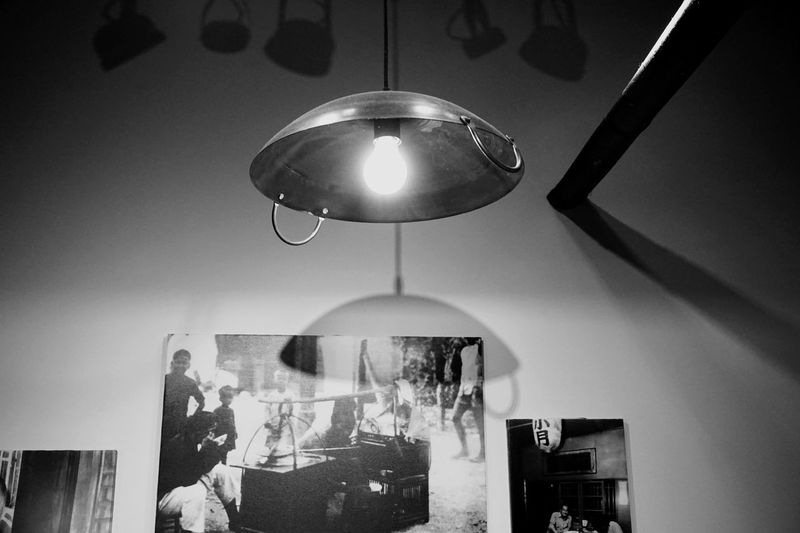 Getting Inspired Black And White Monochrome Lighting Equipment Indoors  Hanging Low Angle View No People Ceiling Light Decoration