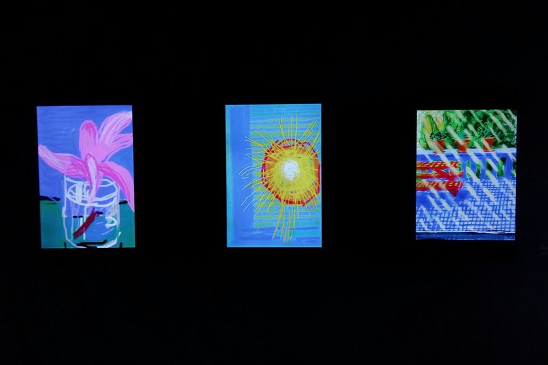 Art and tech: Hockney sketches on i devices