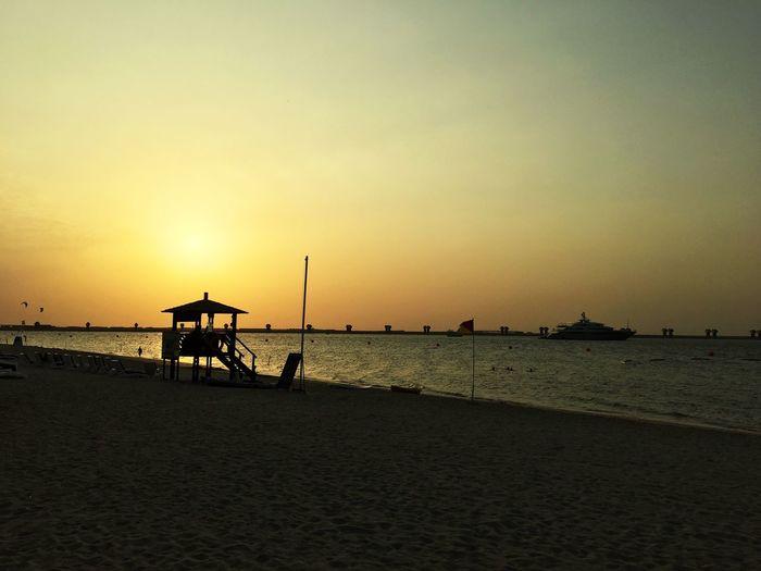 Dubai today Dubai Persiangulf Sunset Lifeguard Hut Hello World