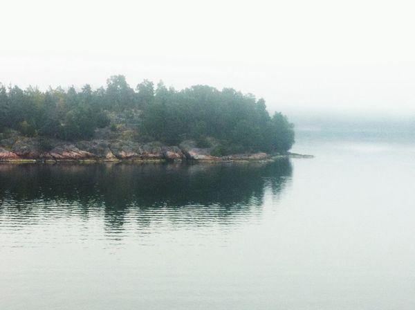 Stockholm Archipelago Island water Fog Good Morning