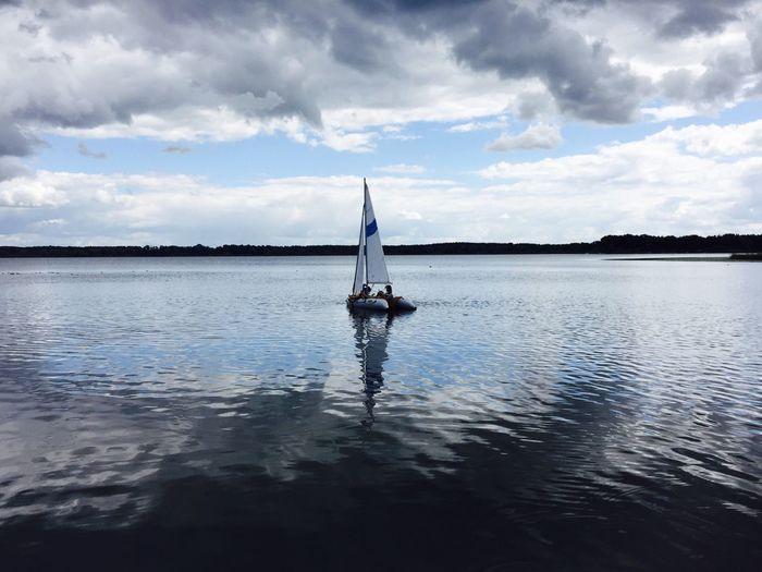 Sailing Horizon Lake Neuendorfersee Minimal