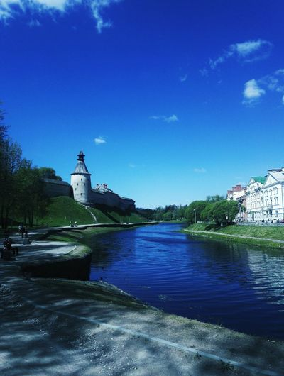 Architecture Water History Travel Destinations Building Exterior Sky Day Pskov 🏡 Cloud - Sky
