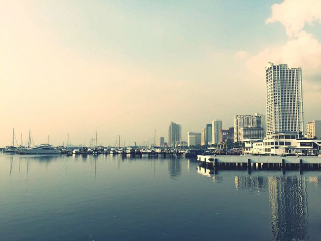 Traveling Home For The Holidays before saying goodbye to the city of manila,got a chance to take a picture of this place. Architecture Cityscape No People Water City Sky Outdoors
