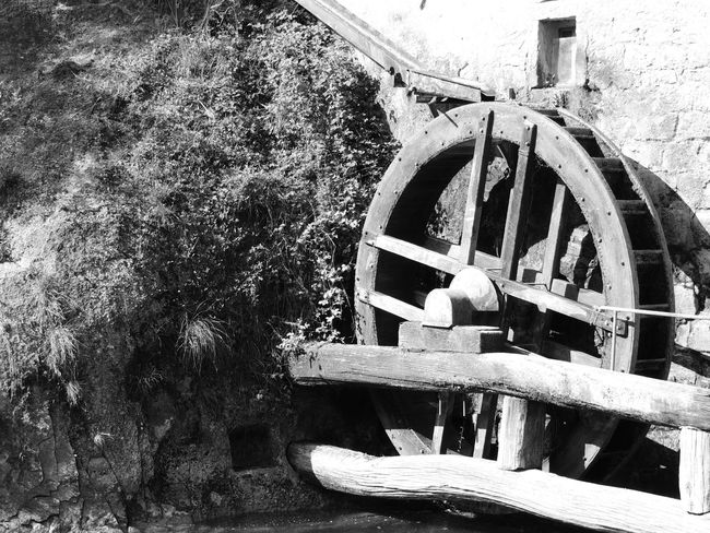 Molinetto Della Croda Close-up Day Machinery Nature No People Old-fashioned Outdoors Steam Train Tree Water Wheel Watermill Wheel