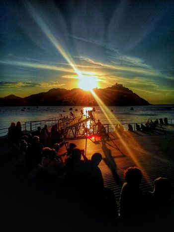 Capture The Moment My Country In A Photo North Of Spain Coast Basque Night Lights Donostia / San Sebastián Spain♥ Sunset