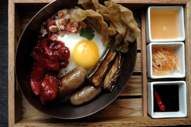 Eyeem Philippines Eyeem Philippines Album Pork Breakfast Close-up Day Egg Egg Yolk Filipino Food Food Food And Drink Freshness Fried Fried Egg Indoors  Longanisa Longganisa Meat No People Ready-to-eat Sausage Tocino