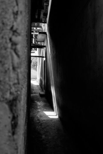 Wen Gong Ci, in Meizhou, Guangdong, China. taken while visiting my wife's hometown for the Chinese New Year. Meizhou Alley Architecture Blackandwhite Built Structure China Day No People The Way Forward