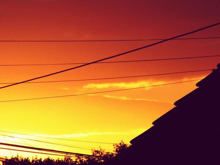 Atardecer Atardecer Paisaje Sky Oranje Skyporn Beautiful Fuego Contraste Cielo Buenosaires