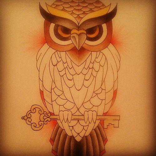+OWL+ in Progress Owl Drawingtime Malen Zeichnen pencilart inprogress oldschool tattoosketch