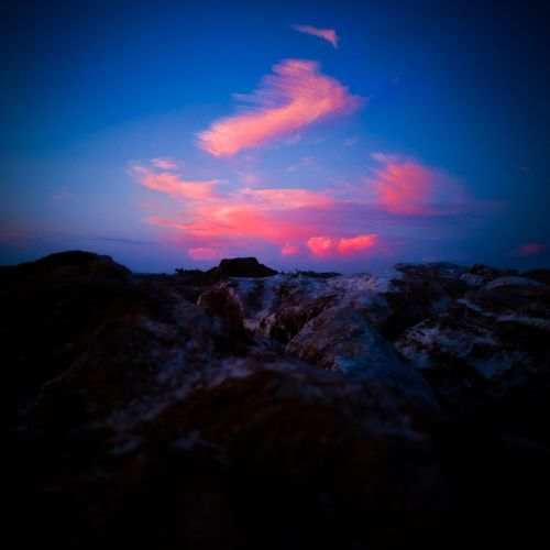 Sunset by the rocks..... #EyeEmReady Blue Landscape Outdoors Sunset No People Tranquility Scenics Night Beauty In Nature Sky Nature