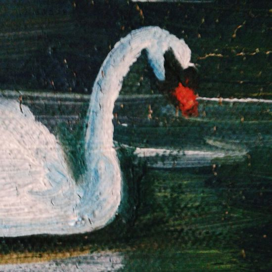 старое картина кусочек масло краски  мазки винтаж Check This Out лебедь  Relaxing