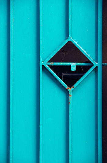 Diamonds are forever No People Shape Architecture Blue Built Structure Design Day Pattern Full Frame Green Color Geometric Shape Backgrounds Close-up Triangle Shape Wood - Material Outdoors Window Building Exterior Wall - Building Feature Turquoise Colored