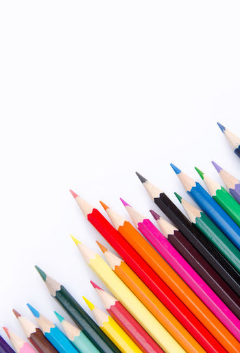 Pencils colorful set, wooden colored pencils isolated on white background, copy space Colors Creativity Graphic Isolated Pencils Wood Art Art And Craft Art And Craft Equipment Collection Colored Pencil Colorful Copy Space Creativity Draw Drawings Frame Large Group Of Objects Multi Colored Pencil Row Sharp Variation Variety White Background