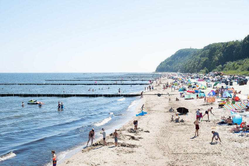 Usedom, Germany Beach Crowd Day Group Of People Holiday Horizon Over Water Koserow Land Large Group Of People Leisure Activity Lifestyles Men Nature Outdoors Real People Sand Sea Sky Trip Usedom Vacations Water Women
