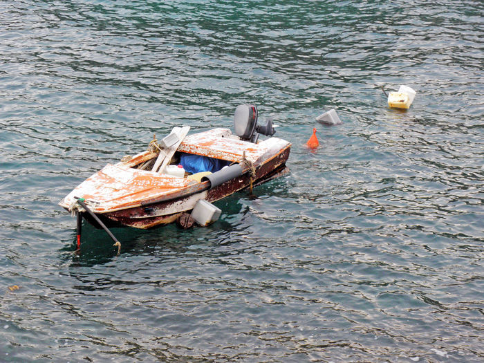 Kalic bay,old colourful vessel,Adriatic coast,Croatia,Europe,1 Adriatic Coast Adriatic Sea Bay Day Jurjevo Kalic Nature No People Outdoors Sea Seaside Senj Sv.Juraj Tourism Tranquility Water