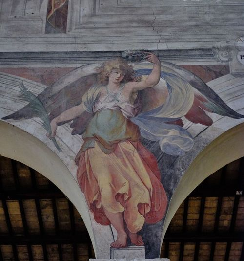 Basilica di SS. Nereo e Achilleo Architecture No People Mural Art And Craft Human Representation Representation Male Likeness Sculpture Creativity Statue Built Structure Spirituality Religion Belief Female Likeness Low Angle View Building Craft Place Of Worship Angel Architectural Column Ceiling