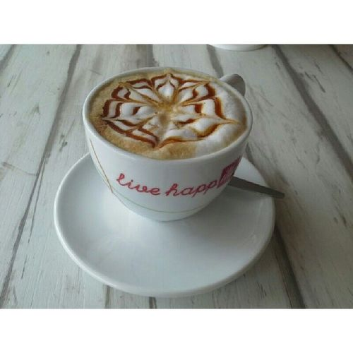 Craving for a month. CappuccinoMacchiatto .What a wonderful sleep.Finally~~I sleep well last night.Morning!