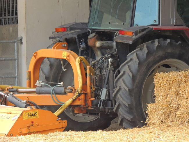 France Loire Touraine Agricultural Machinery Agriculture Commercial Land Vehicle Construction Machinery Day Equipment Industry Land Vehicle Machinery Metal Mode Of Transportation Motor Vehicle Nature No People Orange Color Outdoors Tire Transportation Truck Wheel Yellow