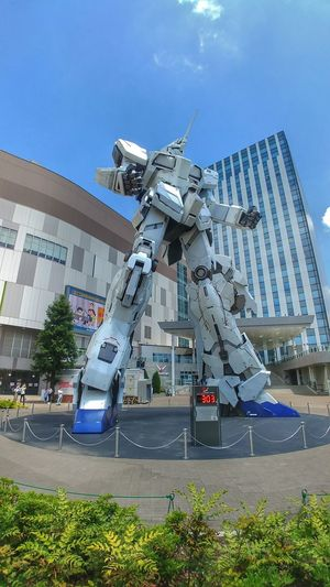 Mobile Suit Gundam Unicorn Gundam Unicorn Odaiba Tokyo Japan City Futuristic Modern Skyscraper Cityscape Urban Skyline Business Finance And Industry Technology Architecture Sky
