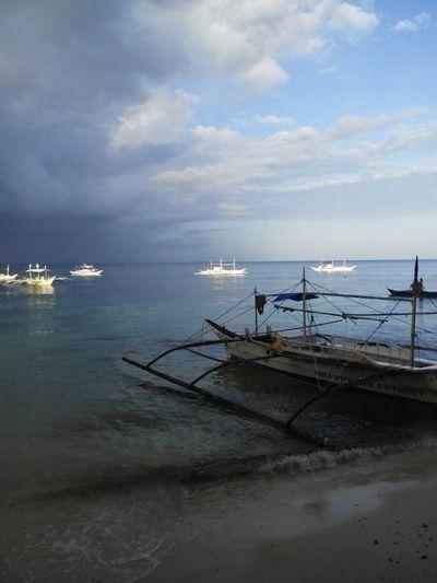 When in Boracay Being A Beach Bum Enjoying The Sun Blue Ocean Beautiful View Beautiful Sky Sea Getting A Tan