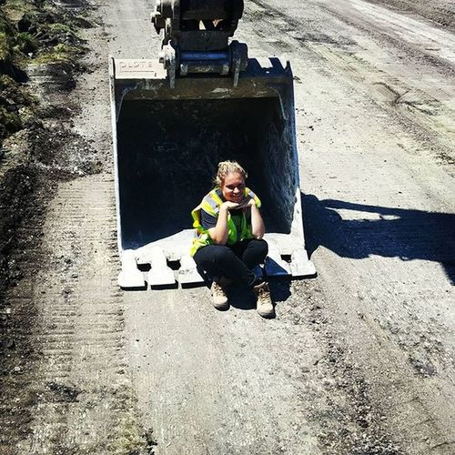 When all else fails just sit in the backhoe Engineeringlikeaboss