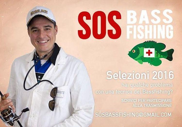 Si parte con la nuova serie di Sosbassfishing ! Se volete partecipare alle selezioni scrivete una mail all'indirizzo in locandina! Bassfishing Pescatv Sky236 Sky Skytv Pesca Bassinitaly