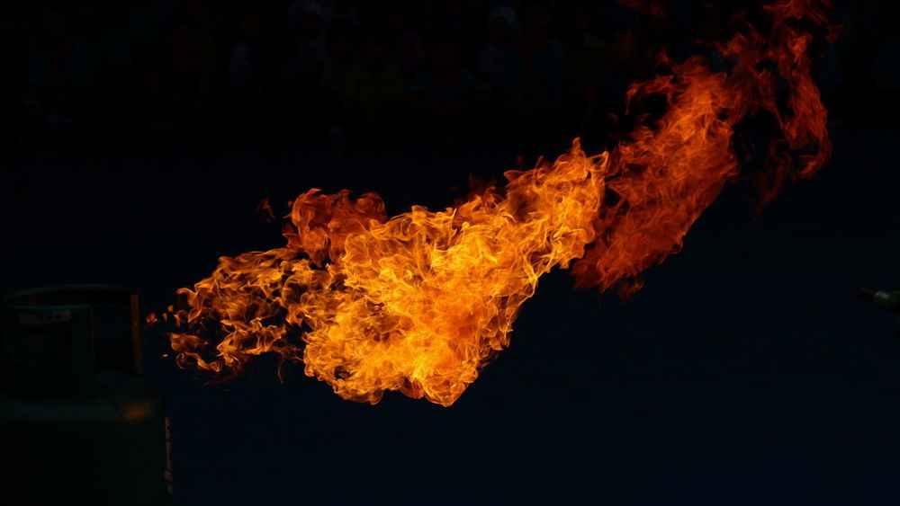 Backgrounds Black Background Bonfire Burning Close-up Fire Flame Heat - Temperature Night No People On Fire Orange Color Outdoors