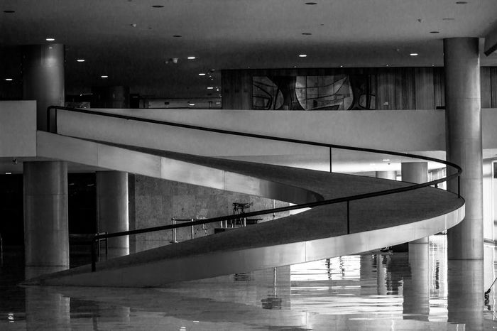 📸: Daniel Nery -- 🌎: Brasília / 🇧🇷 -- 🗓: 2017 -- Indoors  Architecture No People Day Government Government Building Governo Arts Culture And Entertainment Bw Pb Geometric Shape Geometric Structures Illuminated