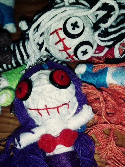 Voodoo Dolls Voodoo Voodoo Doll Halloween Halloween Horrors Multi Colored Close-up Art And Craft