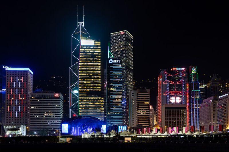 Discoverhongkong HongKong Night Architecture Building Exterior Built Structure Illuminated Night City Building