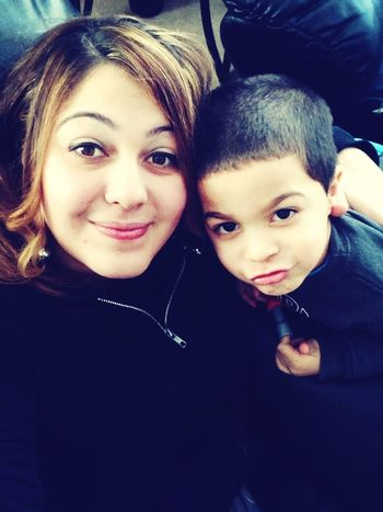 Mommy and son❤him