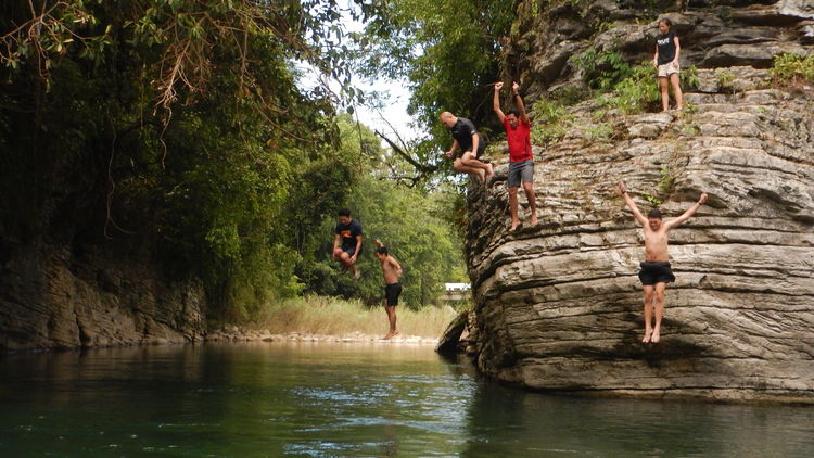 Squadgoals Adventure Adventure Buddies Cliffjump CliffJumping Countryside Nature Outdoors River Riverbank Scenics Squadgoals Vacations Live For The Story The Week On EyeEm