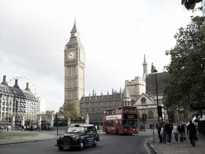 London England Big Ben Bus