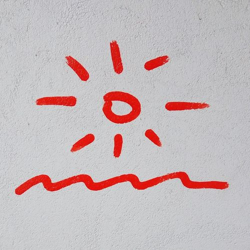 Simples... Simple Simple Photography Simple Moment Sun Waves Sunandsea Sunandwaves Red Touristinmyowncity White White Background Paint Streetart Colors London