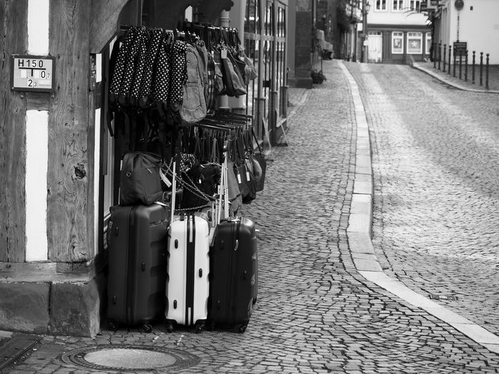 Street Blackandwhite City City Life Koffer Lifestyles Marburg An Der Lahn Perspective Streetphotography