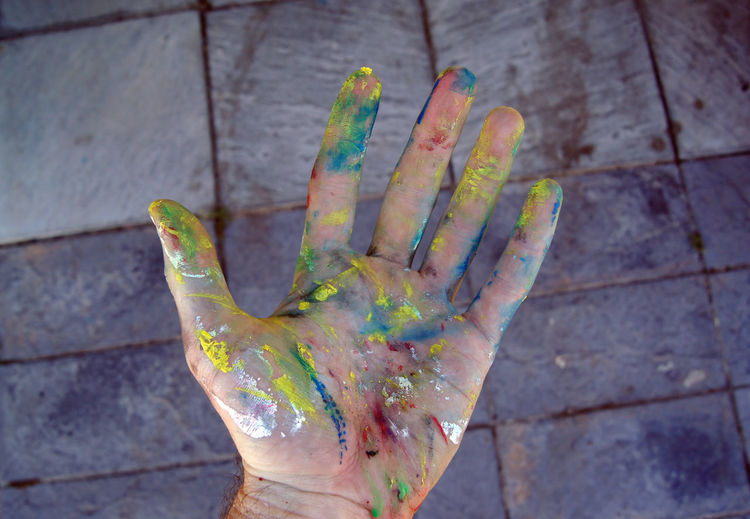 Painter's hand Human Hand Hand Human Body Part One Person Messy Dirty Creativity Close-up Palm Multi Colored Finger Painter Art Artist Artistic Painting Artsy Arts And Crafts Arts Culture And Entertainment Art Studio Fine Art Fine Art Painting Street Art