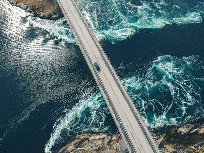 Norway Beauty In Nature Bodø Car Day Dronephotography Flowing Water High Angle View Motion Nature No People Power In Nature Saltstraumen Scenics - Nature Sea Speed Sunlight Turquoise Colored Wake - Water Water Wave Wave Pattern The Great Outdoors - 2018 EyeEm Awards