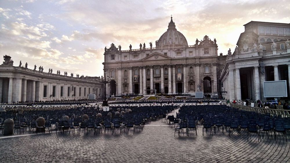 Holy See St Peter's Square Vatican Architecture Building Building Exterior Built Structure City Cloud - Sky History Sunset