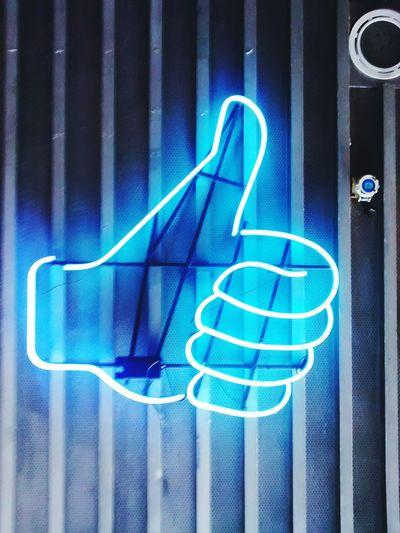 Neon Lights Neon Color Neon Sign Hand Finger Up Five Finger Up