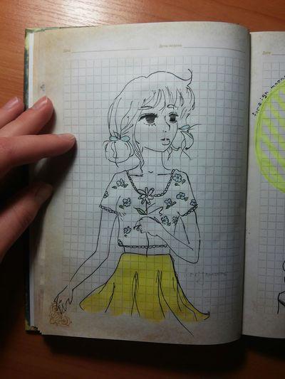 Draw девочка цветок  ромашка Foreign Moons